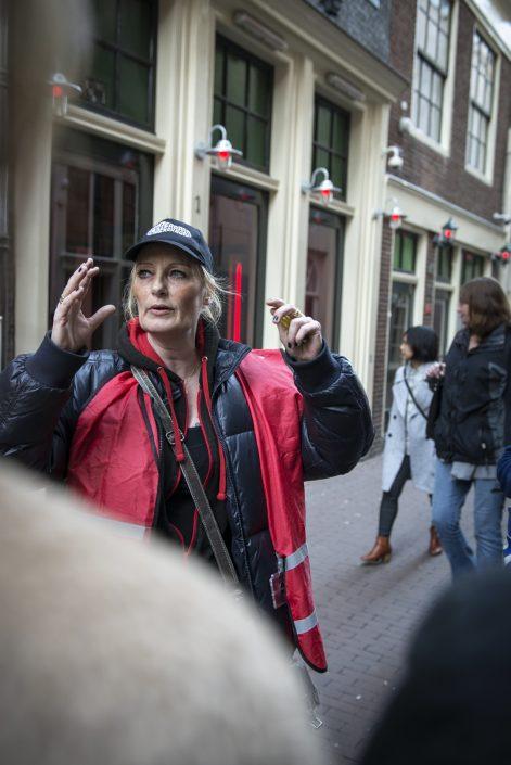 Amsterdam wallen ex-verslaafde rondleiding