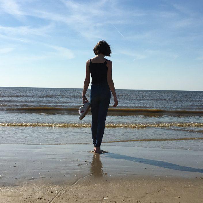 portret zee strand